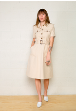 No Less Than - Twill Collar Dress