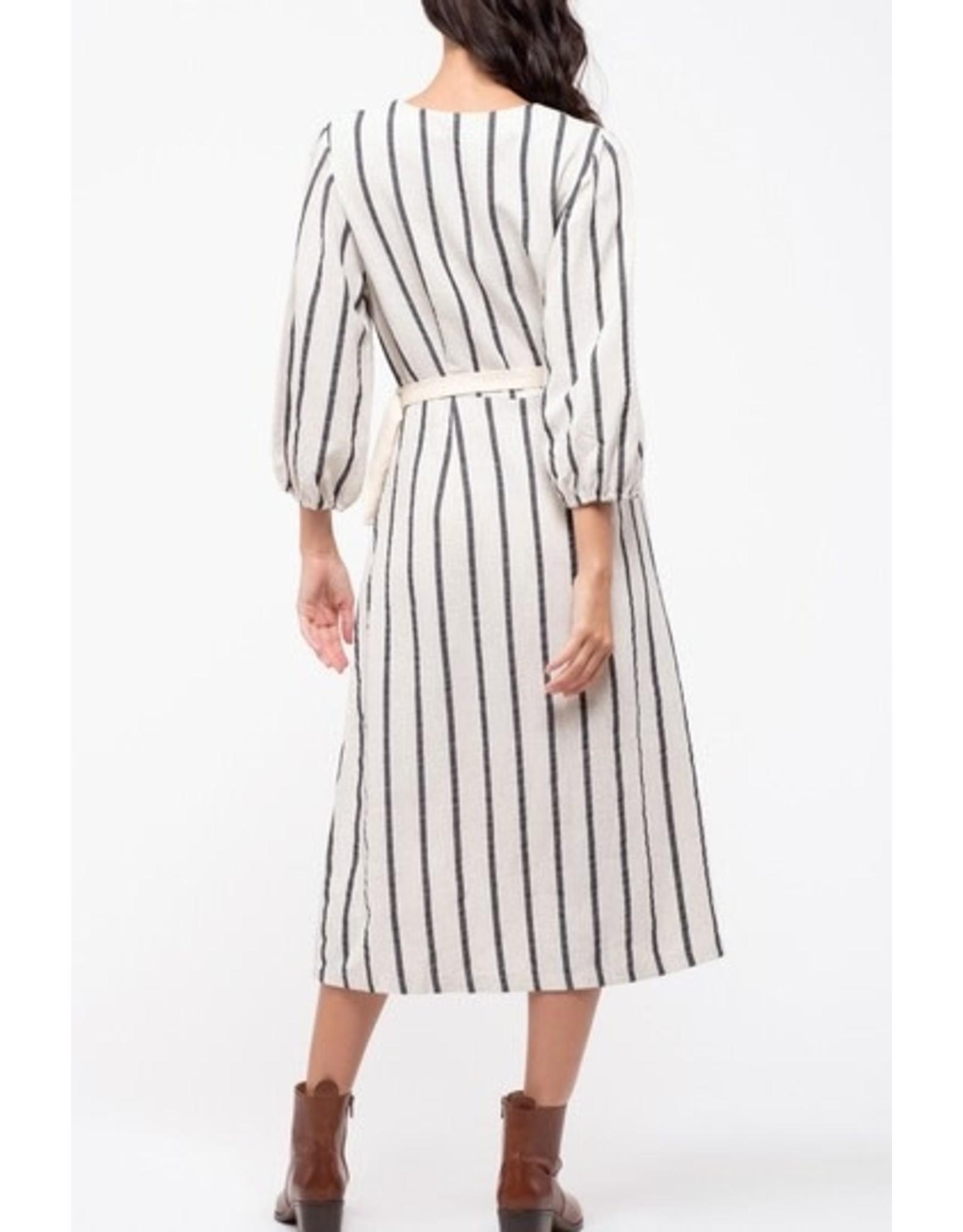 BER - Stripe Button  Dress