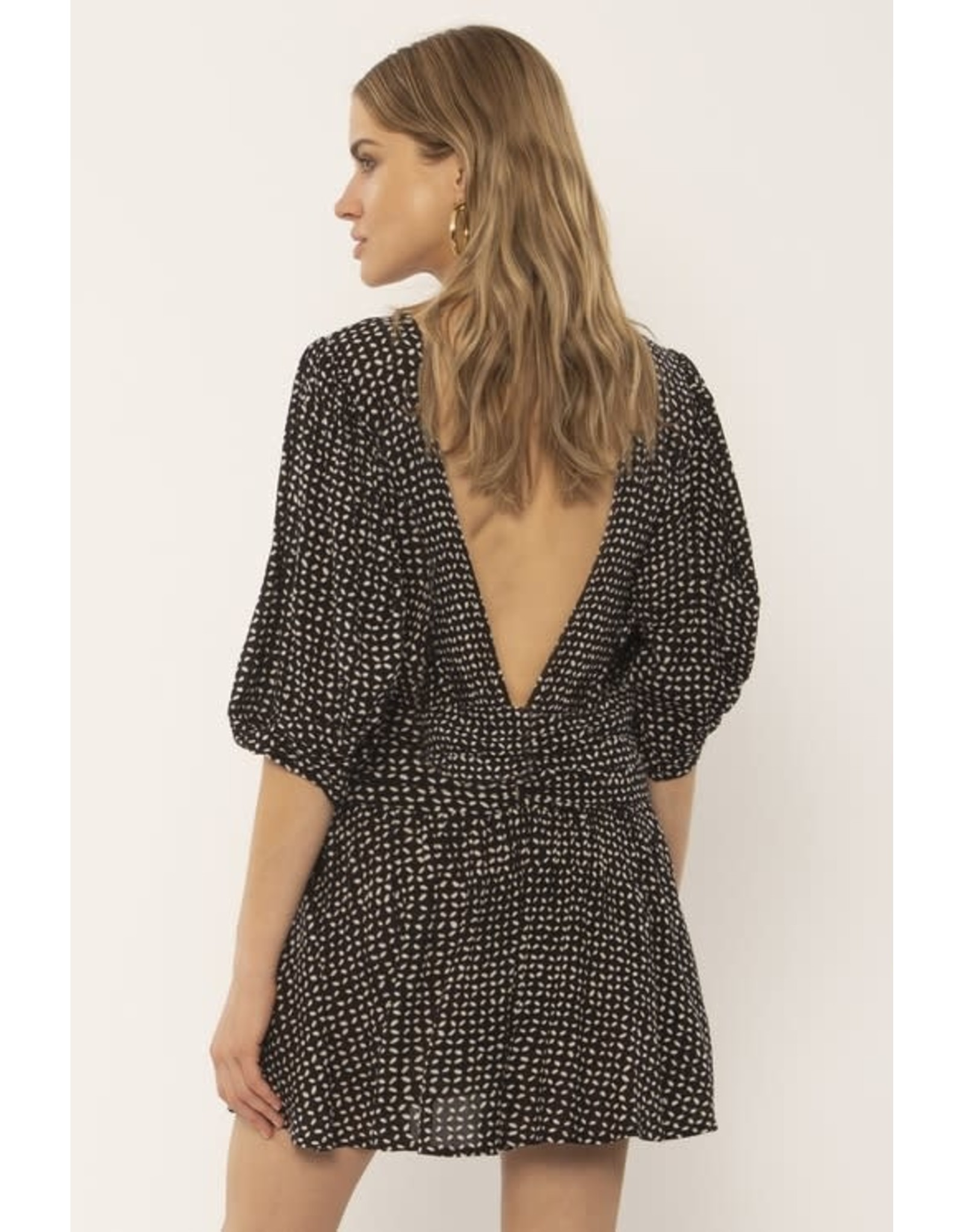 ASE - SS Deep V Back Dress