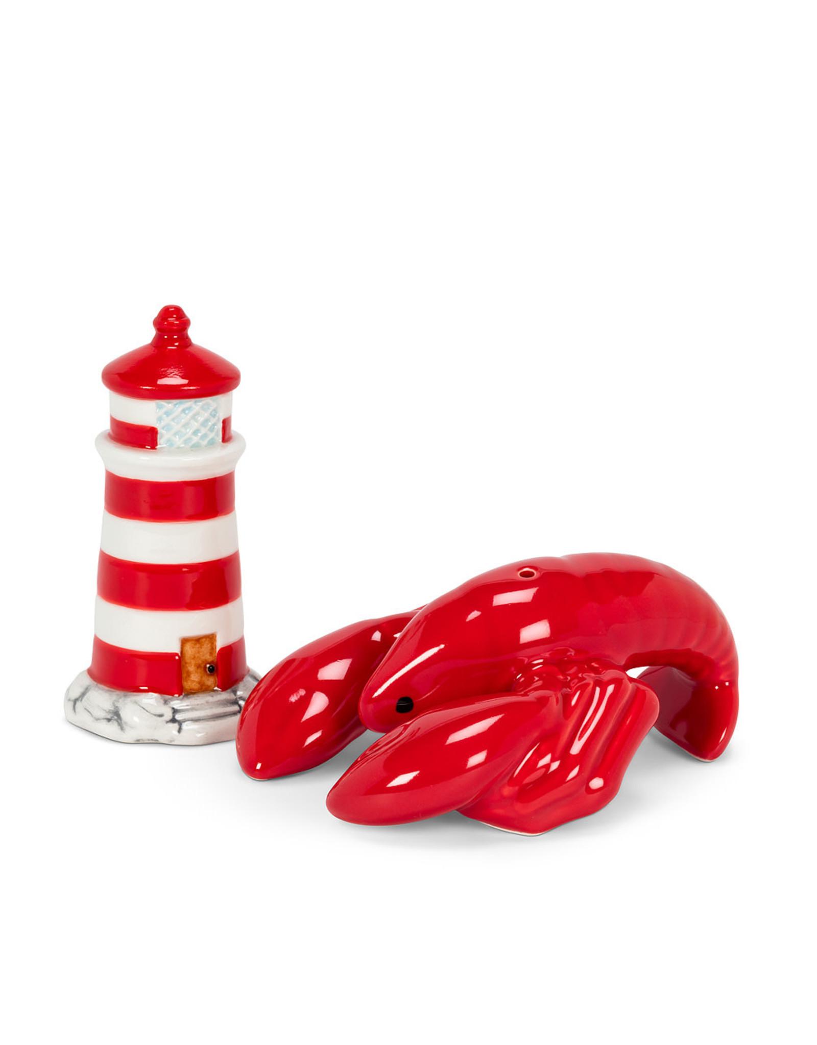 ATT - Lighthouse & Lobster Salt & Pepper Shakers