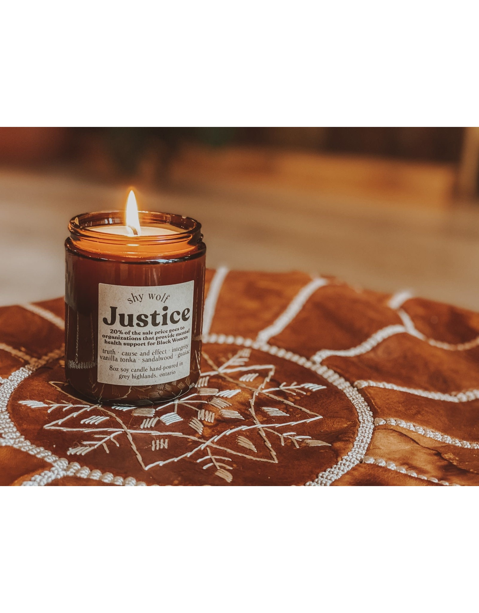 Shy Wolf - Justice Candle - 20% donated - 8 oz