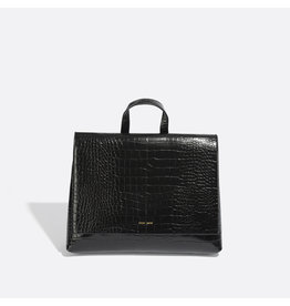 Pixie Mood - Backpack Convertible Janice  Small Black Croc