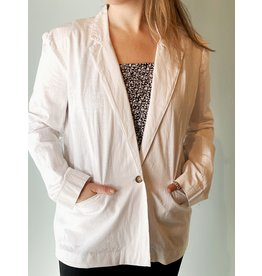 Bonanza - Relaxed Cotton Blazer - White or Indigo