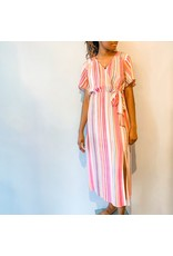 Mink Pink - Stripe Midi Dress