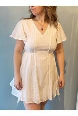Bonanza - Cotton Dot Dress/ White
