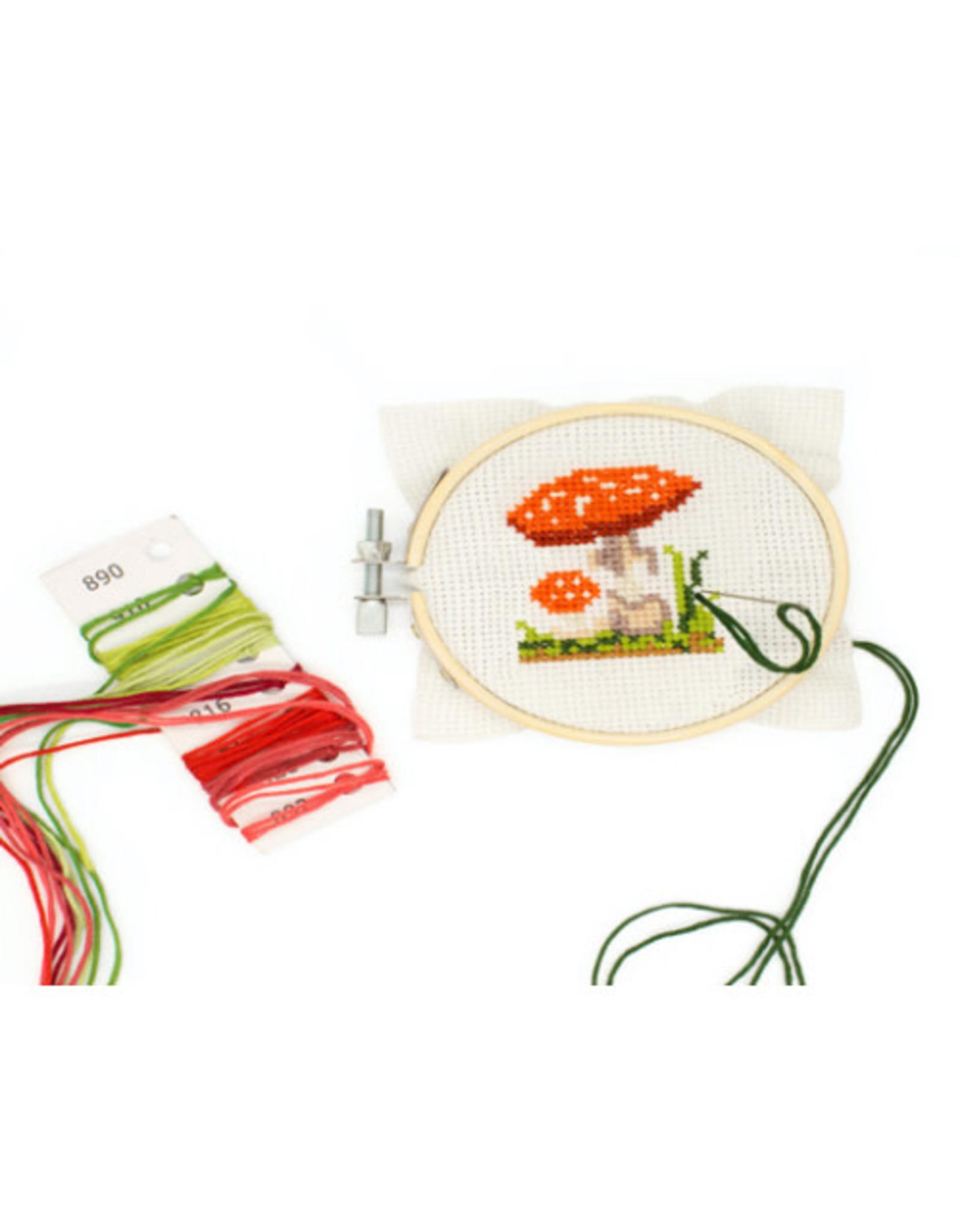 KND - Cross Stitch Embroidery Kit Mushroom