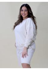Bonanza - Oversize Cozy Shorts Set/ Almond Milk