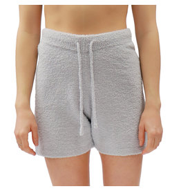 Bonanza - Cozy Plush Shorts, Light Grey or Lilac