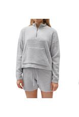 Bonanza - Cozy Plush Quarter Zip/ Soft Grey