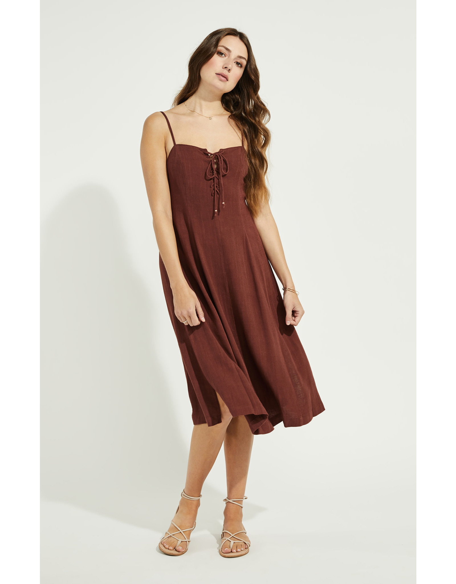 Gentle Fawn - Linen Dress in Burgundy or Cream