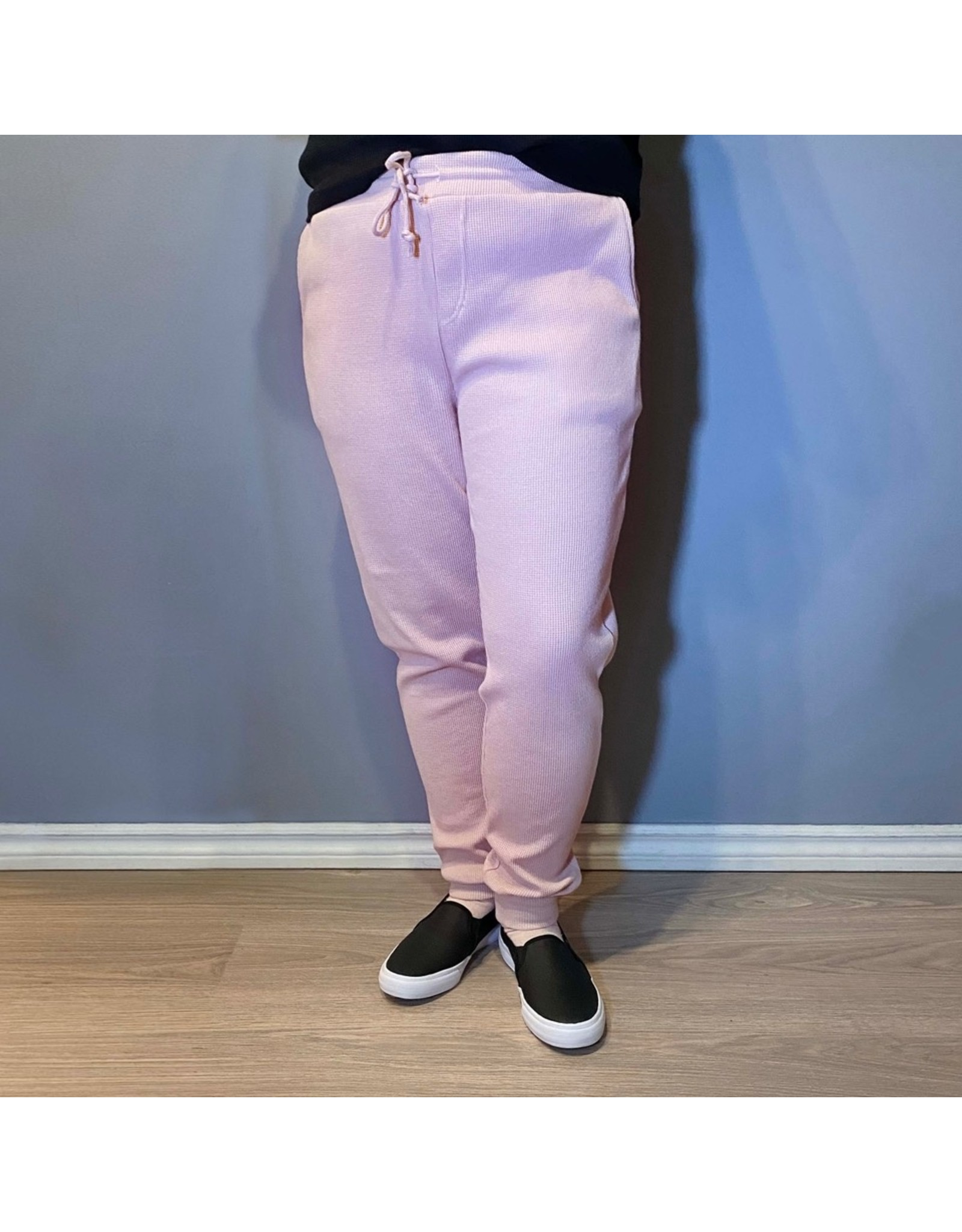 Bonanza - Snuggle Waffle Pant in Blue, Black or Pink