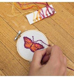 KND - Cross Stitch Embroidery Kit Butterfly