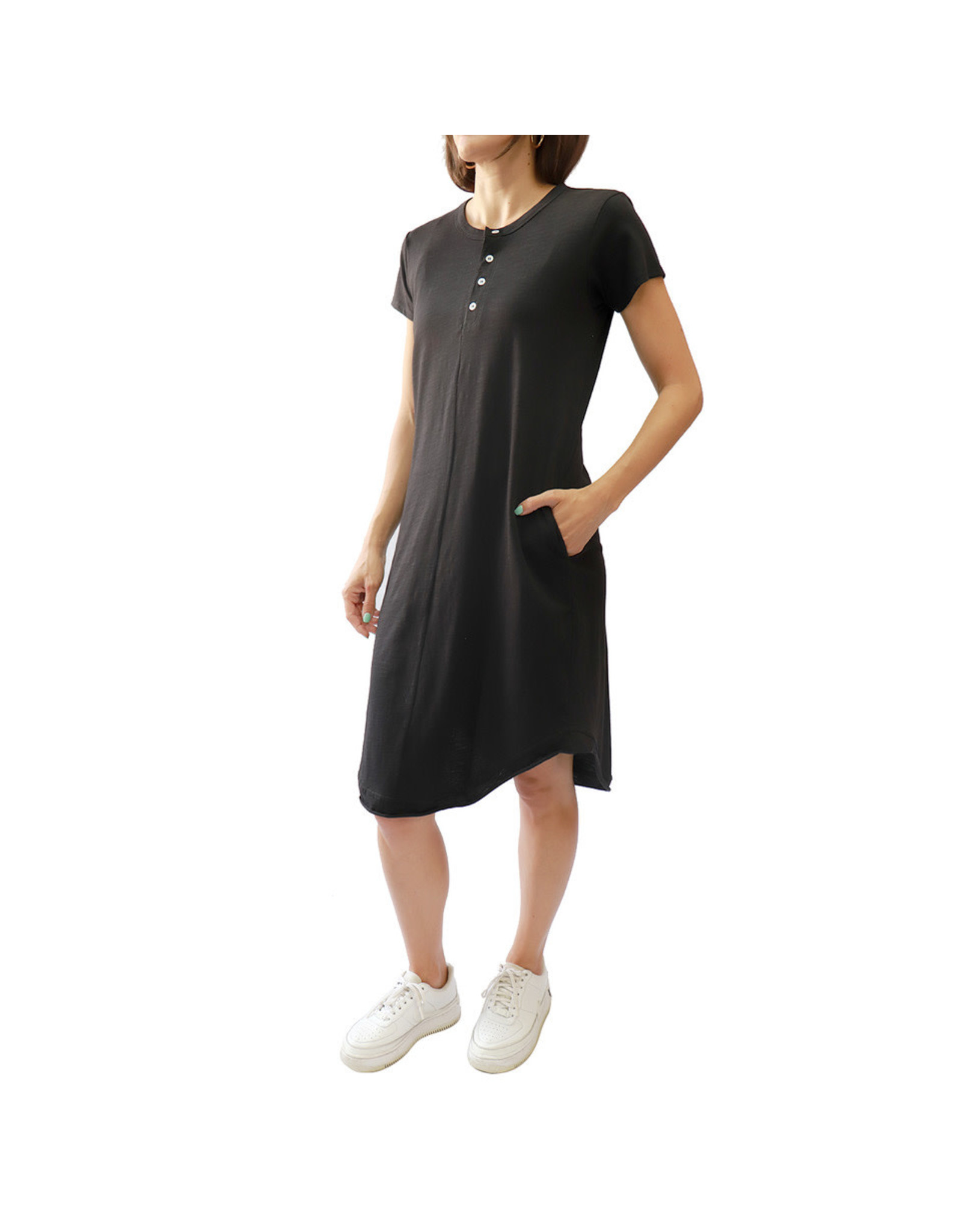 Bonanza - Deck Dress With Pockets-Black or Fatigue