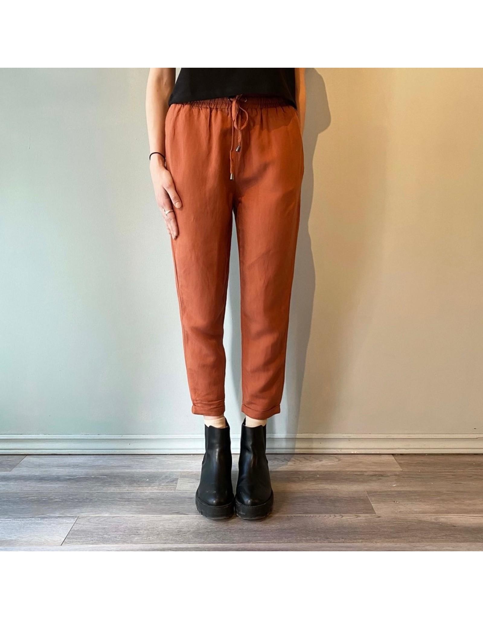 Bonanza - Linen Blend Tie Waist Pant