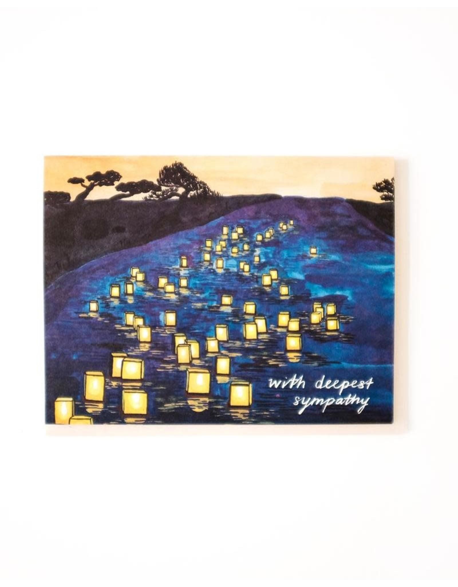 SRE - Card/ With Deepest Sympathy Lantern