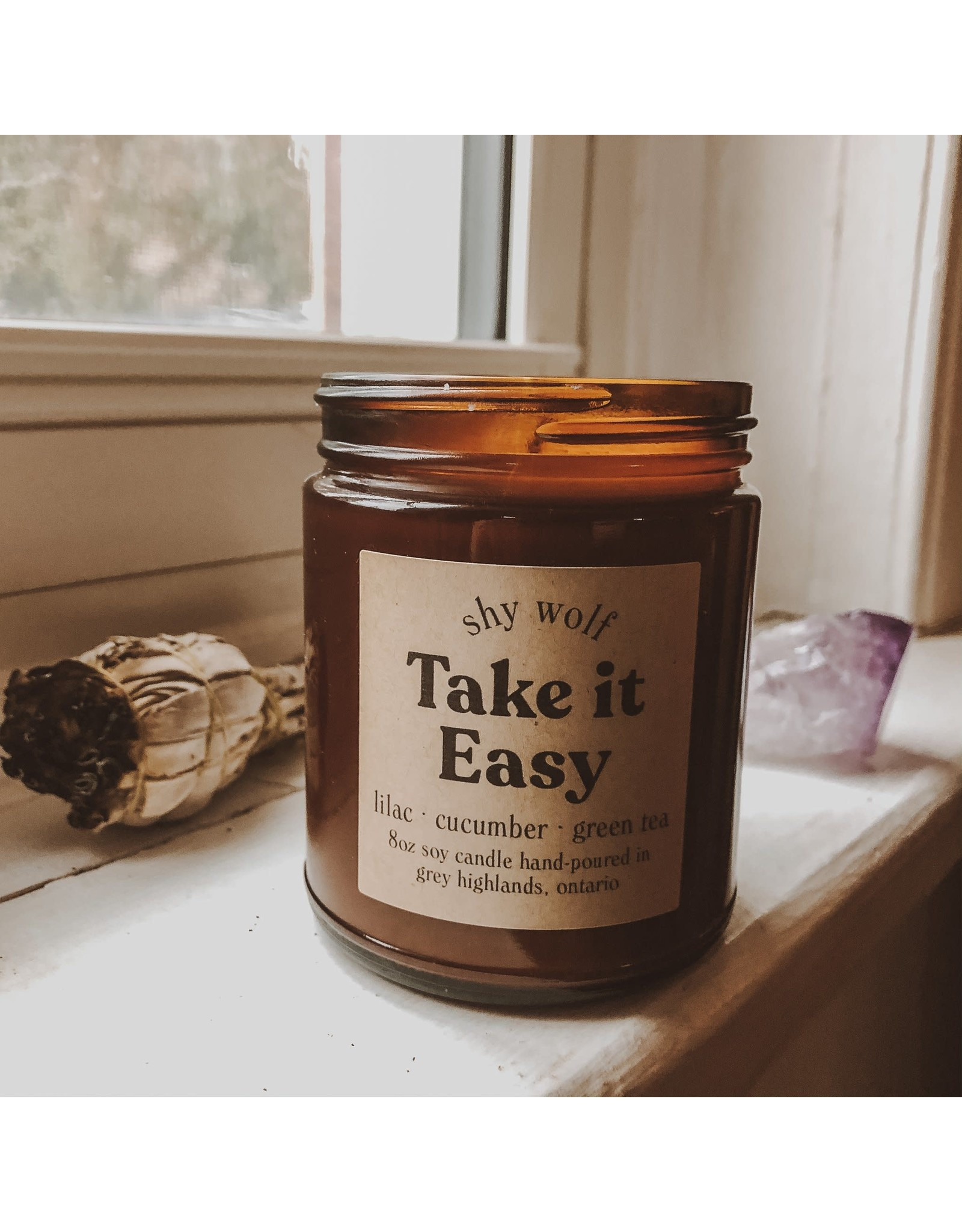 Shy Wolf - Take it Easy Candle 8 oz