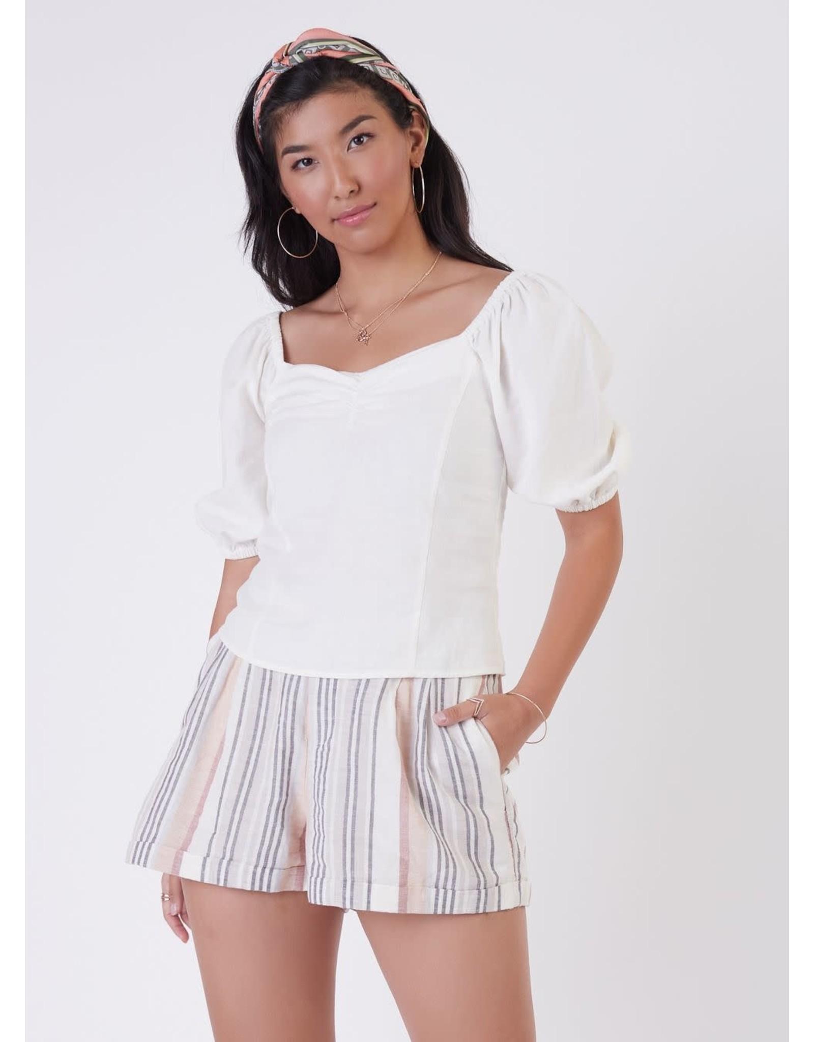 Dex - Linen Stripe Short