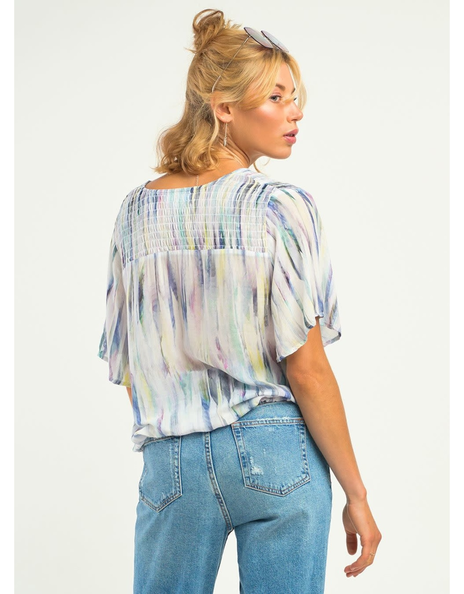 Dex - Watercolour Wrap Top