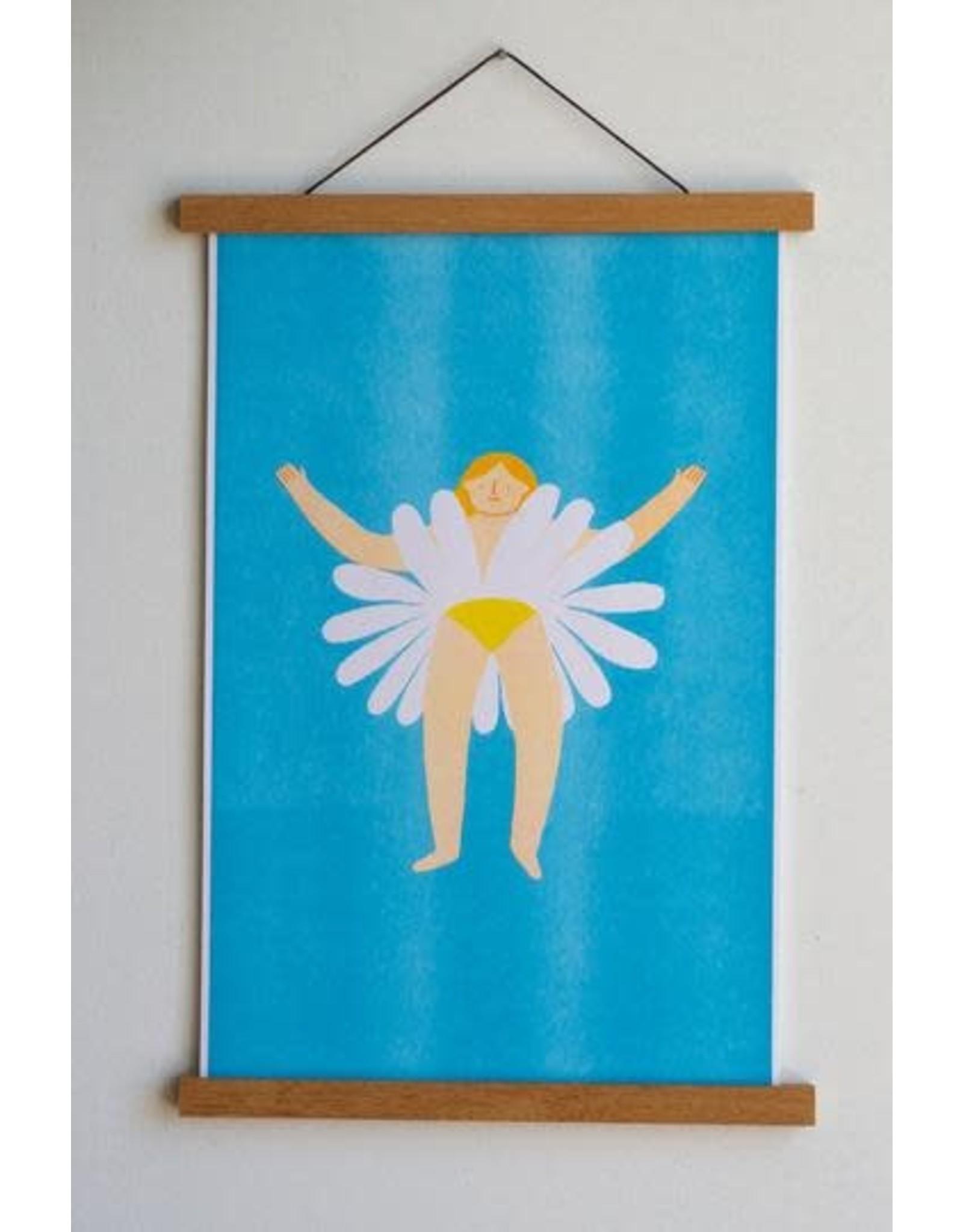 "Stay Home Club - Art  Riso Print/Oopsie Daisy 11"" x 17"""