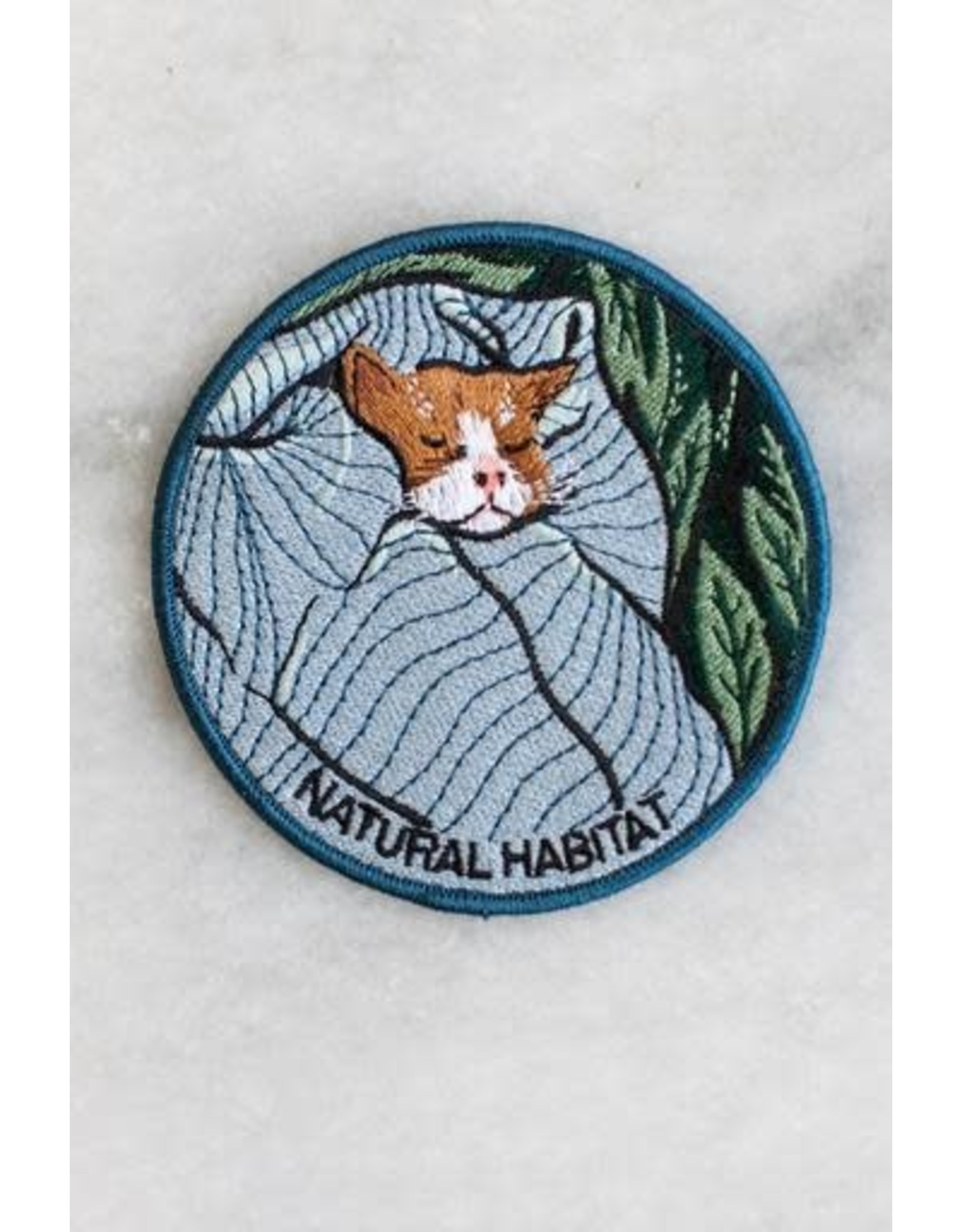 Stay Home Club - Iron On Patch/Natural Habitat Cat