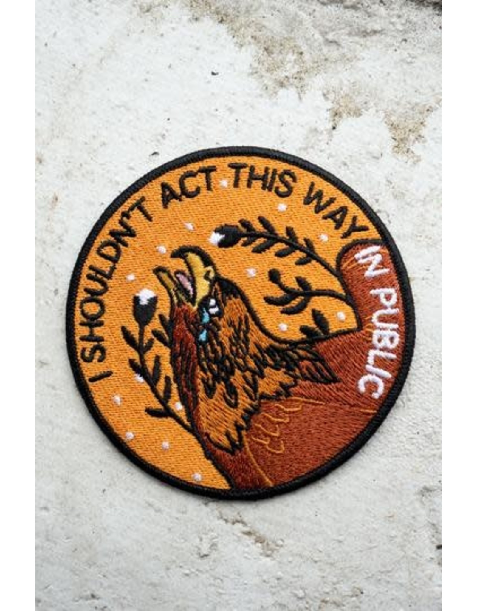 Stay Home Club - Iron On Patch/I Shouldn't Act Patch