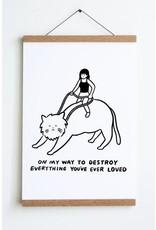 "Stay Home Club - Art Print/On My Way 12"" x 18"""