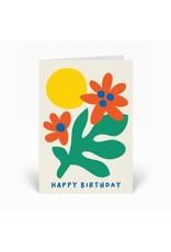 PPS - Flower Happy Birthday Card