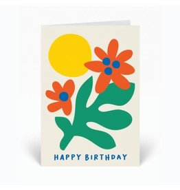 PPS - Flower Happy Birthday Card