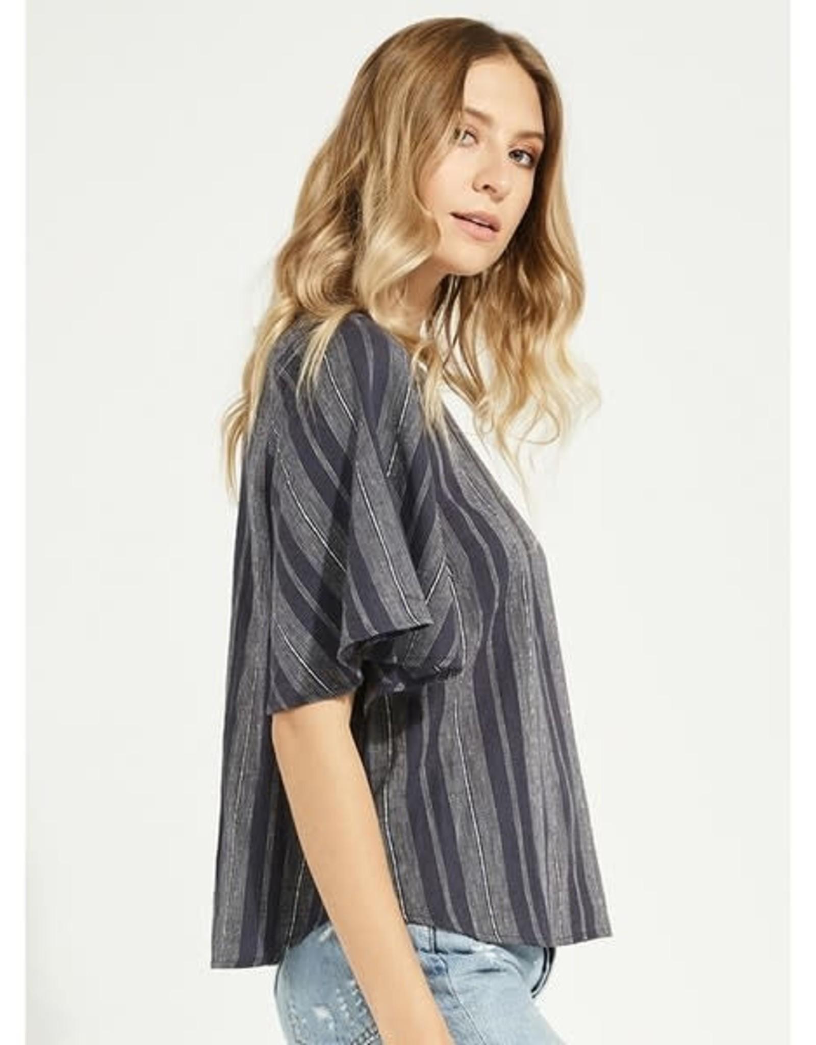 Gentle Fawn - Linen Stripe Top