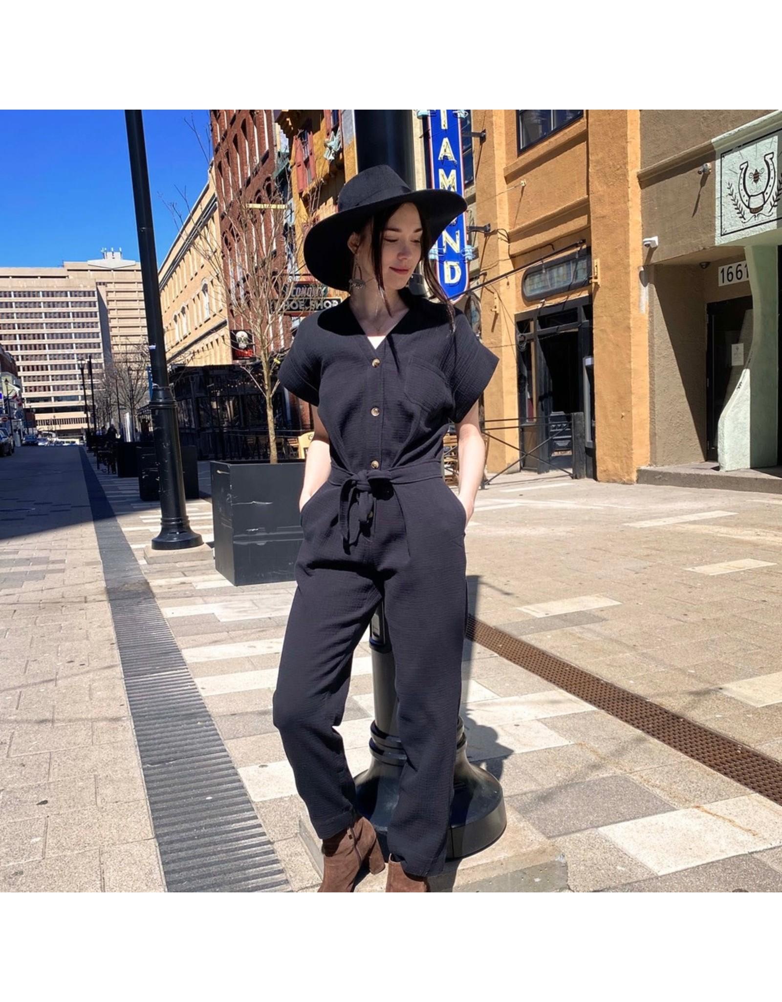 Naif - Cotton Button Front Jumpsuit