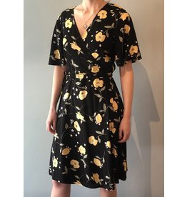 BNG - Short Sleeve Floral Wrap Dress