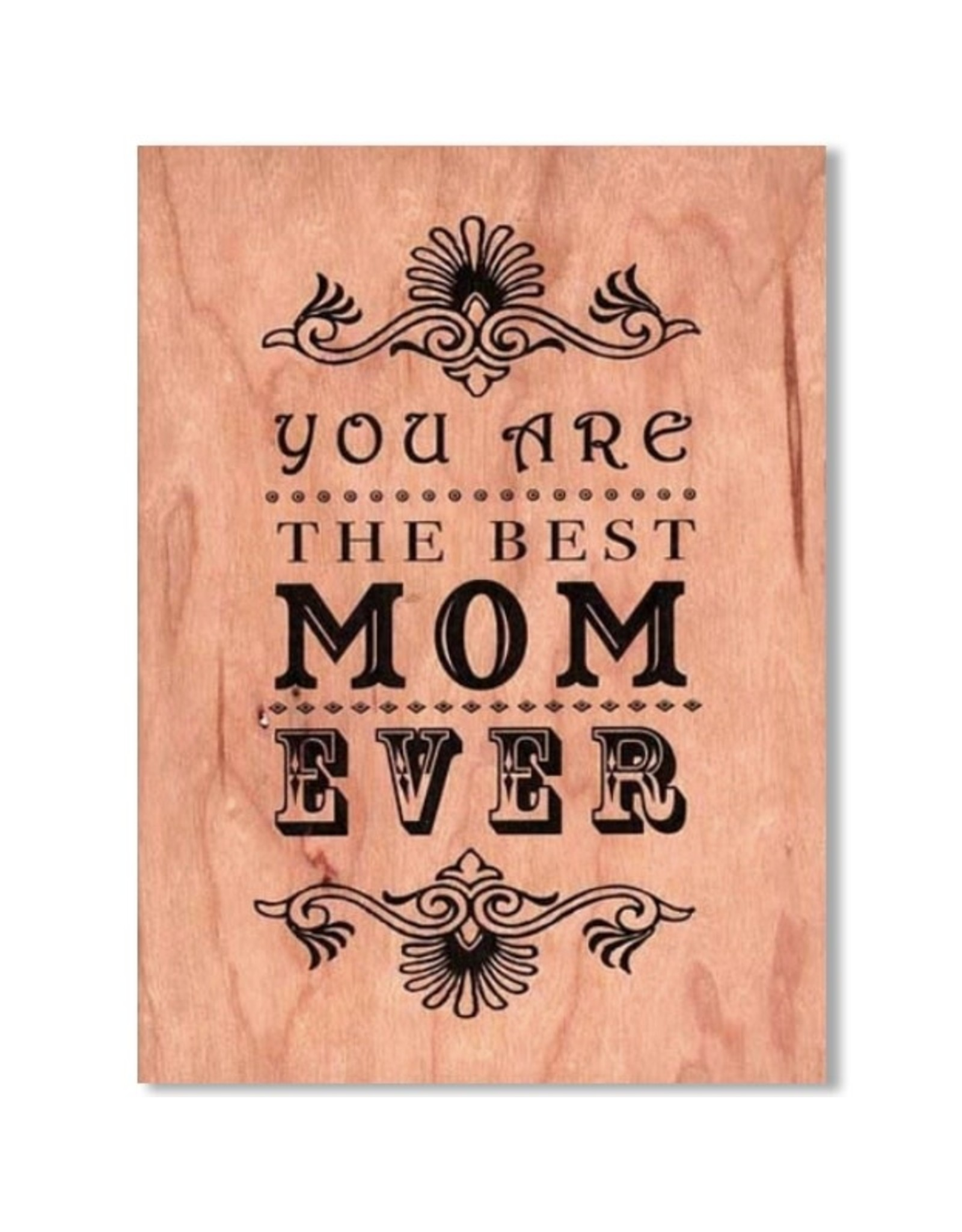 SRL - Best Mom Wood Card