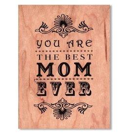 SRL - Card/ Best Mom Wooden