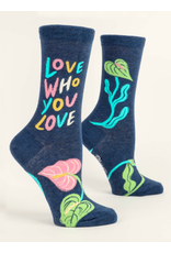 Blue Q - Women's Crew Socks/Love Who You Love