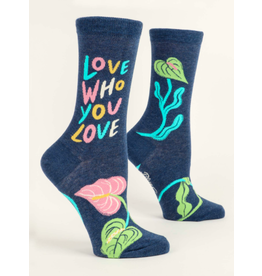 Blue Q - Women's Crew Socks/Love Who You Love