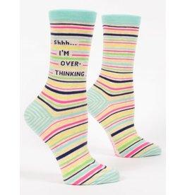 Blue Q - Women's Crew Socks/Shhh...I'm Overthinking