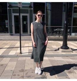 Naif - Linen Oversized Waist-Tie Dress