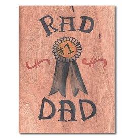 SRL - Card/ Rad Dad Wooden