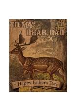 SRL - Card/ Deer Dear Dad Wooden