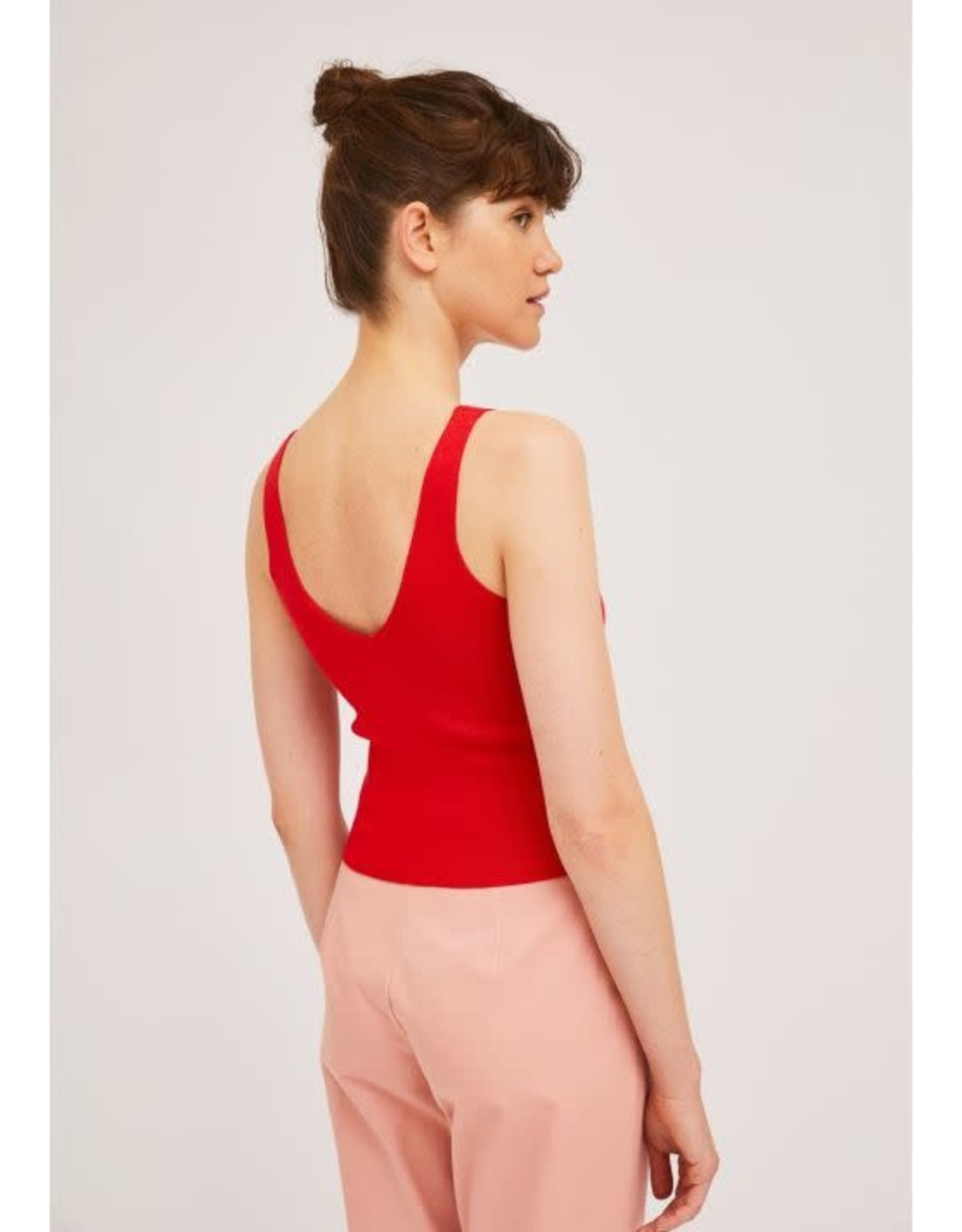 CIA - Sweater Tank in Red or Black