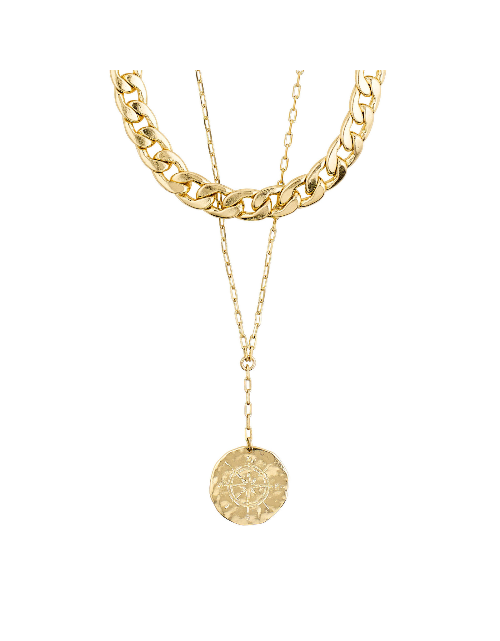 Pilgrim - Compass Necklace/Gold Plated