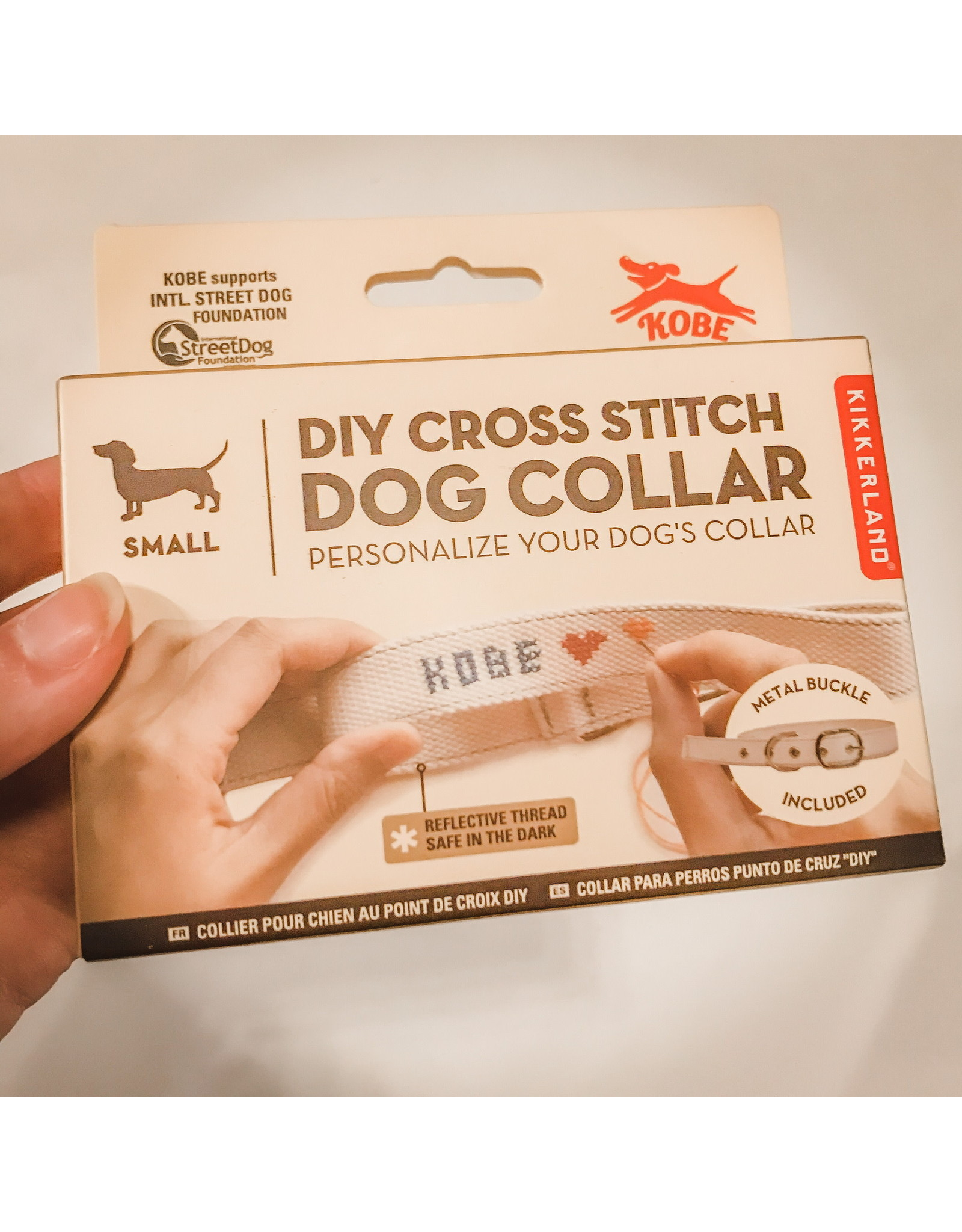 KND - Cross Stitch Dog Collar/Small