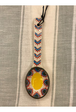 COP - Hand Painted Spoon/Yellow & Blue