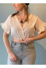 Bonanza - Amy Crop Blouse/ Hot Pink or Off White