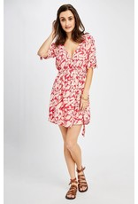Gentle Fawn - Abstract Print SS Dress