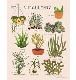 """SRE - Art Print/Succulents 8"""" x 10"""""""