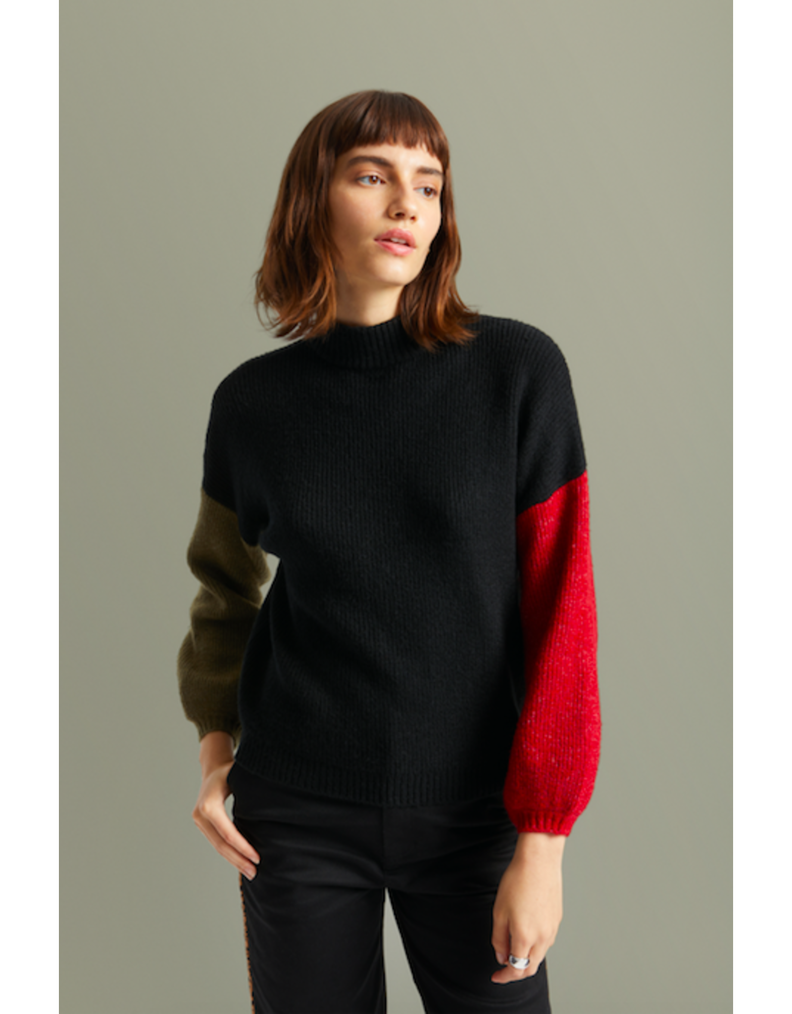 Brixton - Valleys Sweater in Chili / Olive or Heather Grey