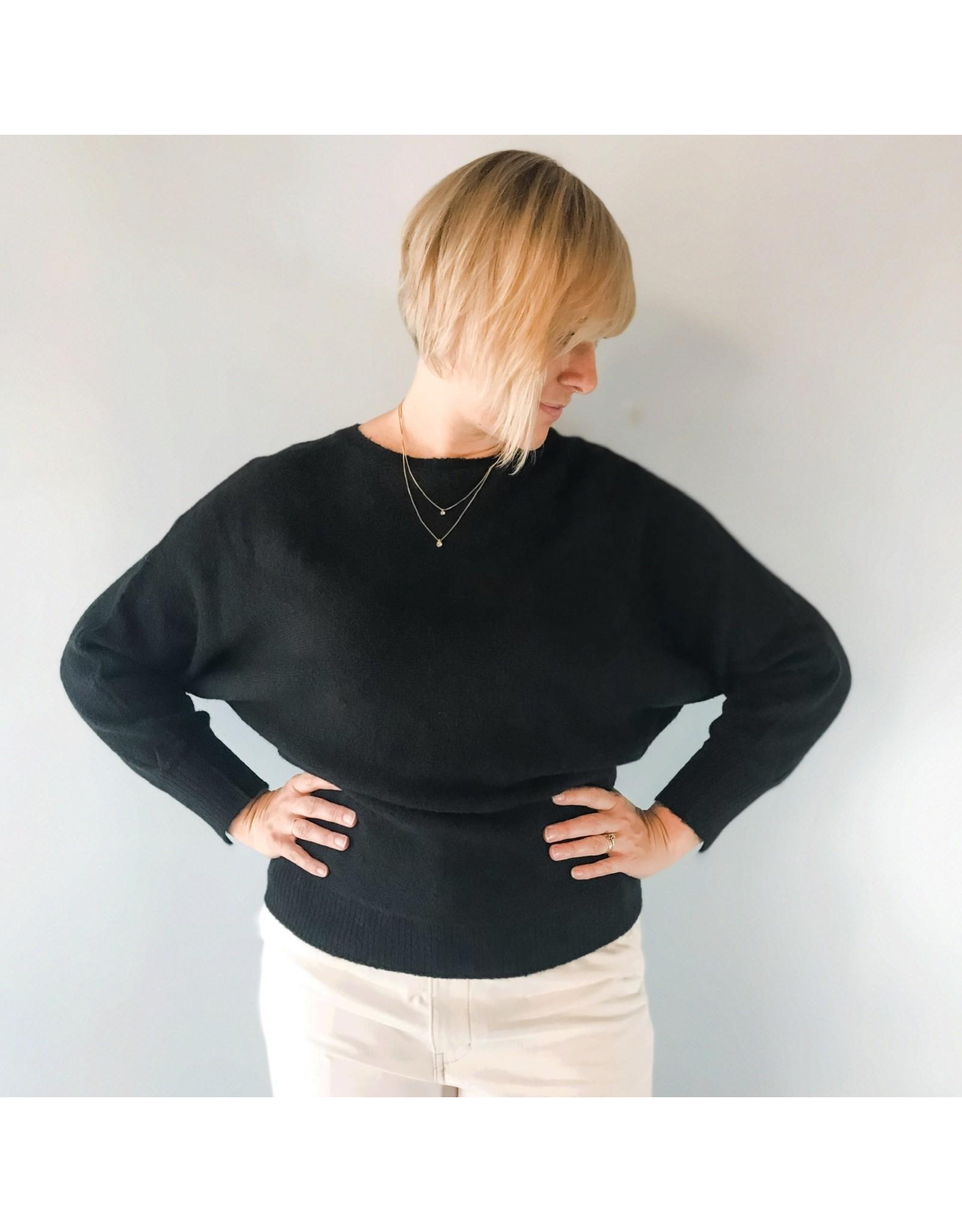 BNG - Marin Sweater Dolman Sleeve Black