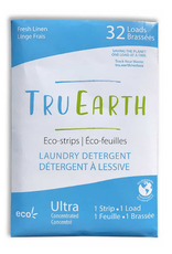 Tru Earth - Eco Laundry Detergent/32 Strips, Linen Scent