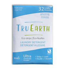 Tru Earth - Eco Laundry Detergent/32 Strips, Linen Scent